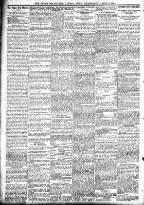 The Algona Upper Des Moines from Algona, Iowa on April 4, 1894 · Page 4