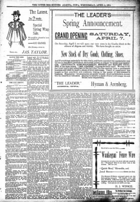 The Algona Upper Des Moines from Algona, Iowa on April 4, 1894 · Page 5