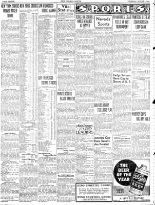 Nevada State Journal from Reno, Nevada on August 5, 1937