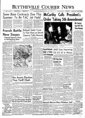 The Courier News from Blytheville, Arkansas on May 21, 1954 · Page 1