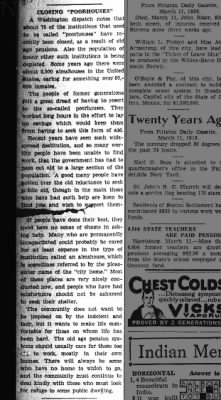 Article about why many poorhouses are closing, 1938