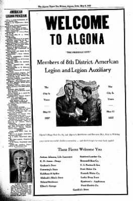 The Algona Upper Des Moines from Algona, Iowa on May 6, 1937 · Page 3