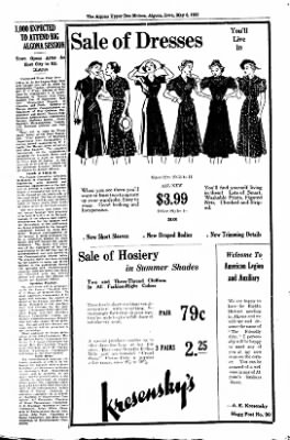 The Algona Upper Des Moines from Algona, Iowa on May 6, 1937 · Page 13