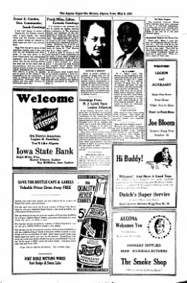 The Algona Upper Des Moines from Algona, Iowa on May 6, 1937 · Page 16