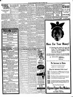 The Algona Upper Des Moines from Algona, Iowa on May 27, 1937 · Page 4