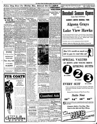 The Algona Upper Des Moines from Algona, Iowa on June 10, 1937 · Page 10