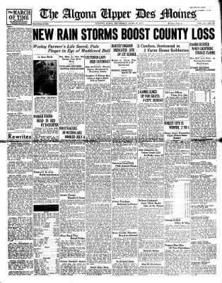 The Algona Upper Des Moines from Algona, Iowa on June 17, 1937 · Page 1