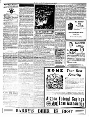 The Algona Upper Des Moines from Algona, Iowa on July 22, 1937 · Page 2
