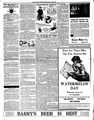 The Algona Upper Des Moines from Algona, Iowa on August 5, 1937 · Page 4