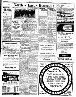 The Algona Upper Des Moines from Algona, Iowa on September 9, 1937 · Page 9