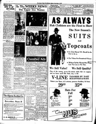 The Algona Upper Des Moines from Algona, Iowa on September 9, 1937 · Page 10