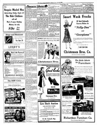 The Algona Upper Des Moines from Algona, Iowa on September 23, 1937 · Page 6