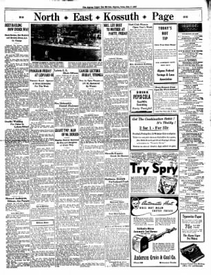 The Algona Upper Des Moines from Algona, Iowa on October 7, 1937 · Page 9