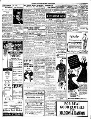 The Algona Upper Des Moines from Algona, Iowa on October 7, 1937 · Page 12