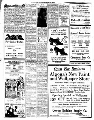 The Algona Upper Des Moines from Algona, Iowa on October 14, 1937 · Page 6
