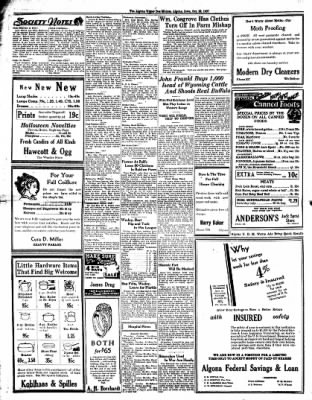The Algona Upper Des Moines from Algona, Iowa on October 28, 1937 · Page 4