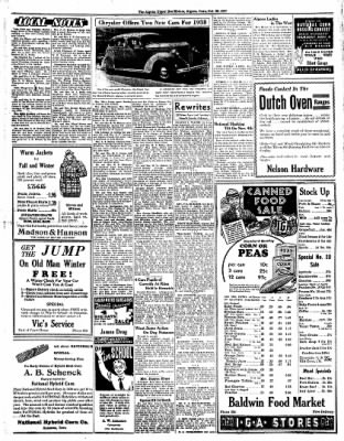 The Algona Upper Des Moines from Algona, Iowa on October 28, 1937 · Page 5