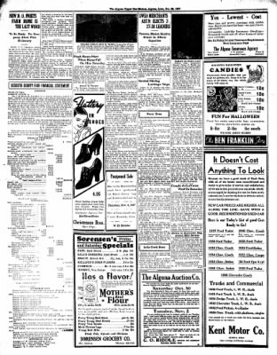 The Algona Upper Des Moines from Algona, Iowa on October 28, 1937 · Page 6