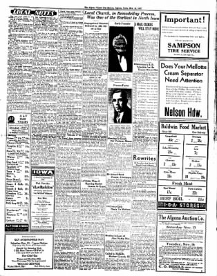 The Algona Upper Des Moines from Algona, Iowa on November 11, 1937 · Page 7