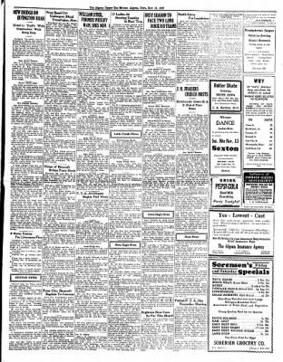 The Algona Upper Des Moines from Algona, Iowa on November 11, 1937 · Page 9