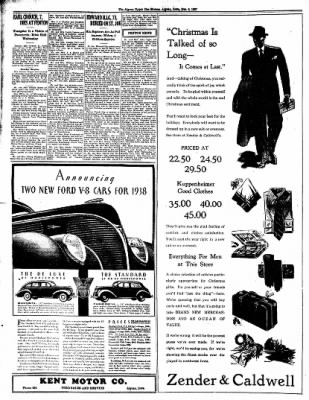 The Algona Upper Des Moines from Algona, Iowa on December 2, 1937 · Page 8
