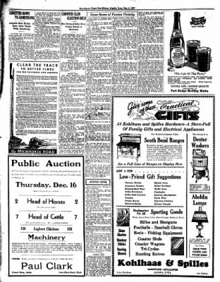 The Algona Upper Des Moines from Algona, Iowa on December 9, 1937 · Page 12