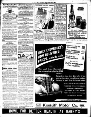 The Algona Upper Des Moines from Algona, Iowa on December 16, 1937 · Page 8