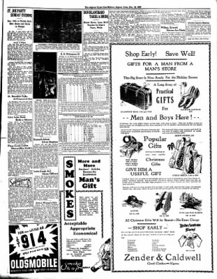 The Algona Upper Des Moines from Algona, Iowa on December 16, 1937 · Page 9
