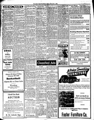 The Algona Upper Des Moines from Algona, Iowa on January 4, 1938 · Page 8
