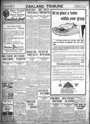 Oakland Tribune from Oakland, California on February 21, 1913 · Page 20