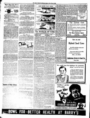 The Algona Upper Des Moines from Algona, Iowa on February 8, 1938 · Page 2