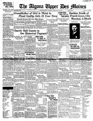 The Algona Upper Des Moines from Algona, Iowa on February 15, 1938 · Page 1