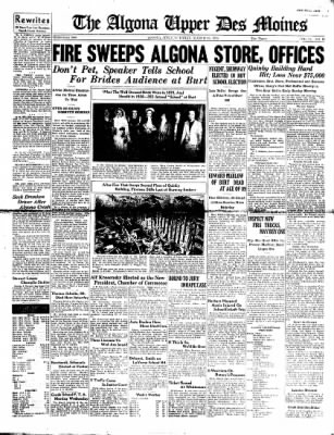 The Algona Upper Des Moines from Algona, Iowa on March 15, 1938 · Page 1