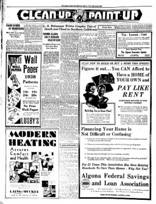 The Algona Upper Des Moines from Algona, Iowa on March 22, 1938 · Page 10