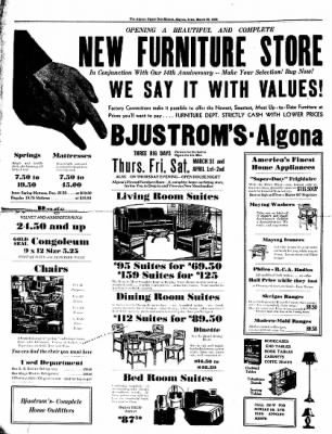 The Algona Upper Des Moines from Algona, Iowa on March 29, 1938 · Page 2