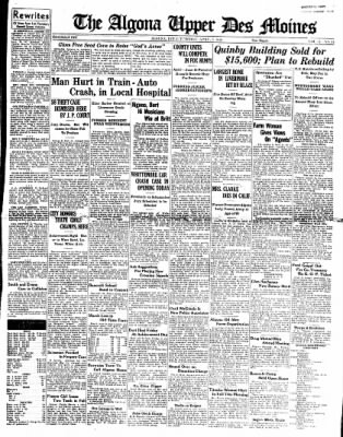 The Algona Upper Des Moines from Algona, Iowa on April 5, 1938 · Page 1
