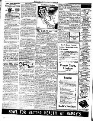 The Algona Upper Des Moines from Algona, Iowa on April 5, 1938 · Page 8