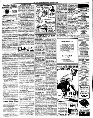 The Algona Upper Des Moines from Algona, Iowa on April 12, 1938 · Page 2