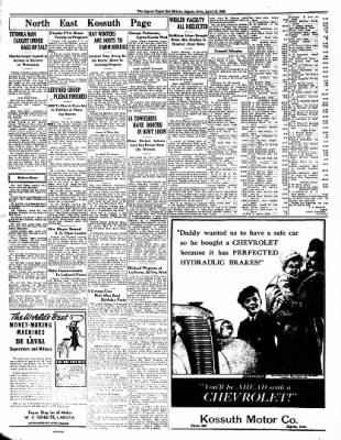 The Algona Upper Des Moines from Algona, Iowa on April 12, 1938 · Page 8