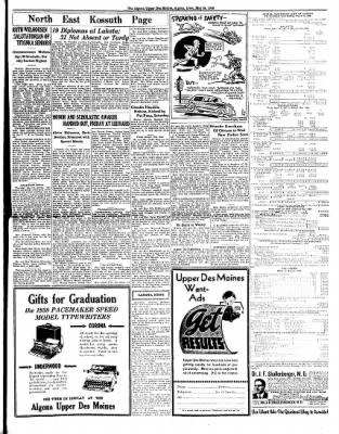 The Algona Upper Des Moines from Algona, Iowa on May 24, 1938 · Page 9