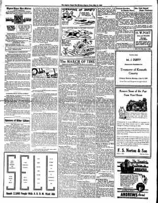 The Algona Upper Des Moines from Algona, Iowa on May 31, 1938 · Page 6