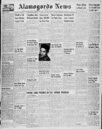 Sample Alamogordo News front page