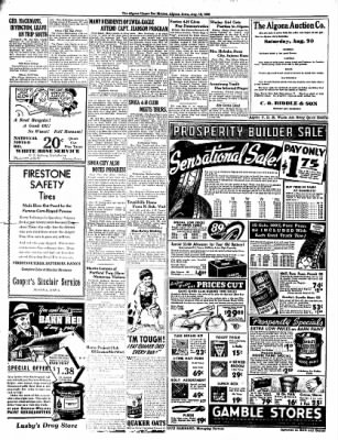 The Algona Upper Des Moines from Algona, Iowa on August 16, 1938 · Page 10