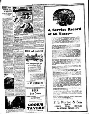 The Algona Upper Des Moines from Algona, Iowa on August 16, 1938 · Page 24