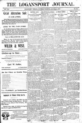 Logansport Pharos-Tribune from Logansport, Indiana on August 22, 1896 · Page 1