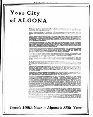 The Algona Upper Des Moines from Algona, Iowa on August 16, 1938 · Page 31