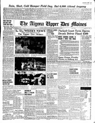 The Algona Upper Des Moines from Algona, Iowa on September 20, 1938 · Page 1