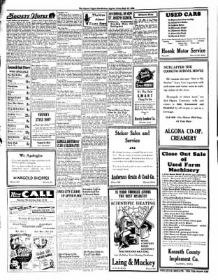 The Algona Upper Des Moines from Algona, Iowa on September 27, 1938 · Page 4
