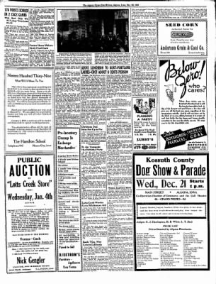 The Algona Upper Des Moines from Algona, Iowa on December 20, 1938 · Page 5