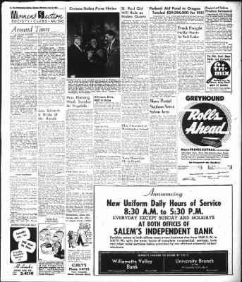 Statesman Journal from Salem, Oregon on June 2, 1952 · Page 6